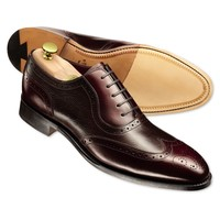 Cherry Bathurst calf leather brogue shoes | Men's business shoes from Charles Tyrwhitt | CTShirts.com