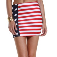 Sale-red Party In The Usa Mini Skirt