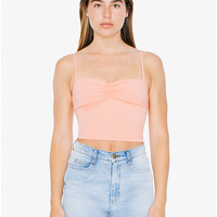 Cotton Spandex Lace Back Tank | American Apparel