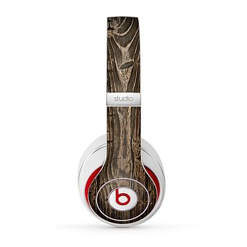 The Rough Textured Dark Wooden Planks Skin for the Beats by Dre Studio (2013+ Version) Headphones