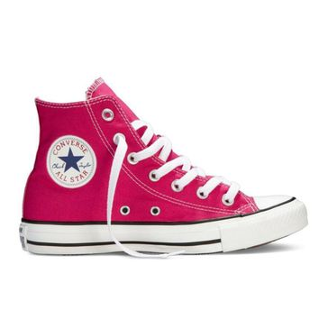 Converse Trending Women Men Leisure High Help Canvas Flats Sport Running Shoes Sneakers Rose Red I