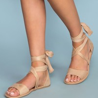 Devlyn Wrap Sandals - Natural