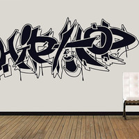 Wall Decal Vinyl Sticker Decals Art Decor Guys Boy Sign hip hop Graffiti Music Rap Street Style Living room Bedroom Dorm Man Gift(1276)