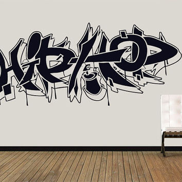 Wall Decal Vinyl Sticker Decals Art Decor Guys Boy Sign Hip Hop Graffiti Music Rap Str