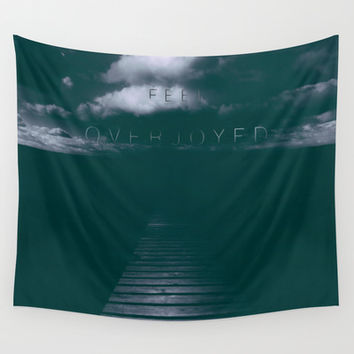 Overjoyed Wall Tapestry by HappyMelvin