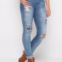 Flex Ripped Floral Embroidered Skinny Jean | Skinny Jeans | rue21