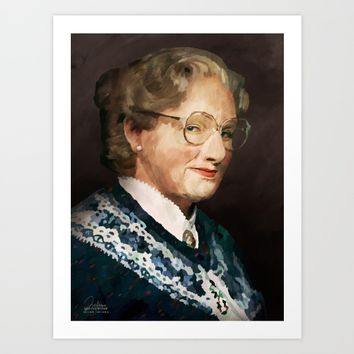 Mrs. Doubtfire Art Print by Julian Faylona