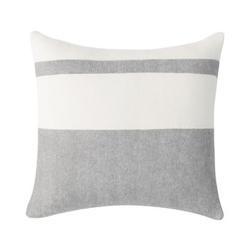 Sydney Herringbone Stripe Pillow | Light Gray