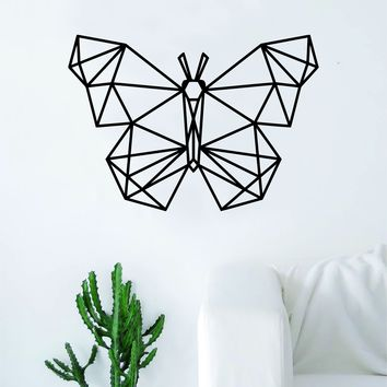Geometric Butterfly Animal Design Decal Sticker Wall Vinyl Decor Art Living Room Bedroom Abstract Cool Teen