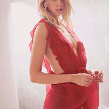 Silk Chiffon Ruffle Babydoll - The Victoria's Secret Designer Collection - Victoria's Secret