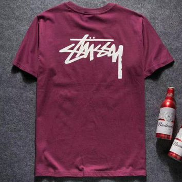 DCCKR2 Stussy 2018 spring and summer new classic printed short-sleeved T-shirt F-YQ-ZLHJ