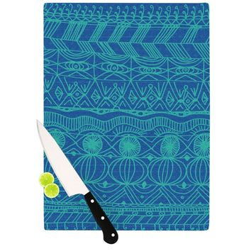 "Catherine Holcombe ""Beach Blanket Confusion"" Cutting Board"