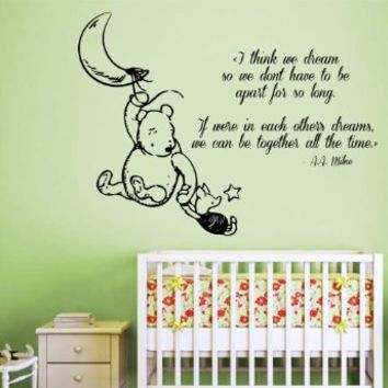 Wall decals vinyl decal sticker home from amazon decals for for Baby pooh and friends wall mural