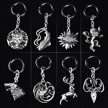 10pcs/set The GOT wolf  figure  Keychain Toy
