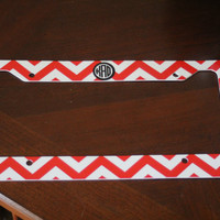 Personalized License Plate Frame with your chosen design and monogram or text. Unique item.