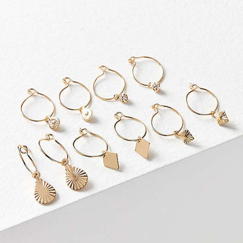 Charmed Hoop Earring Set | Urban Outfitters