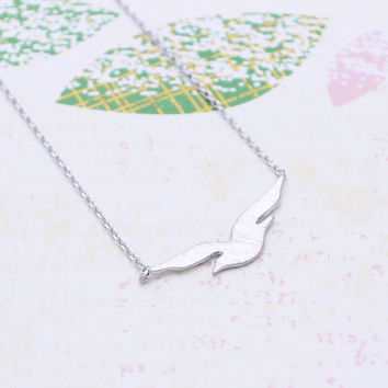 Flying seagull  necklace