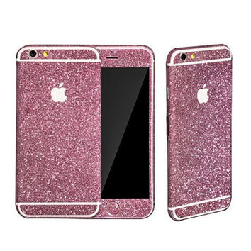 Pink Glitter Decal Stickers for iPhone