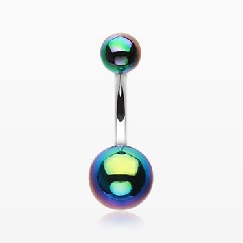 Iridescent Acrylic Belly Button Ring