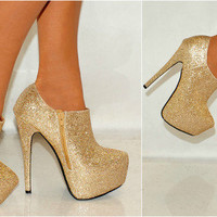 Gold Ankle Boots