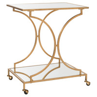 Ivanna Bar Cart, Gold, Bar Carts