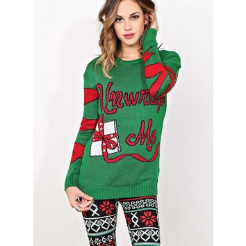 UNWRAP ME Light Up Holiday Sweater