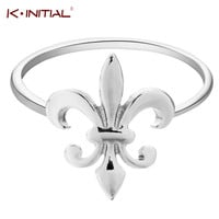 Kinitial New Fleur De Lis Ring Fleur De Lis Rings Royal Gift for Women Fleur de Lis Ring French Louisiana Orleans Saints Bague-in Rings from Jewelry & Accessories on Aliexpress.com | Alibaba Group
