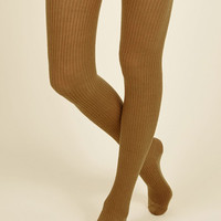 Homework Bound Tights in Amber