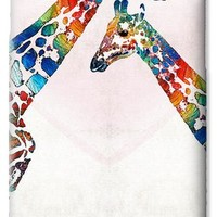 Colorful Giraffe Art - I've Got Your Back - By Sharon Cummings iPhone 6 Case