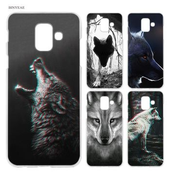 BINYEAE Classic Cool Wolf Hipster Hard Case Cover Fashion for Samsung Galaxy A6 A8 A6+ A8+ Plus J4 J6 J8 2018