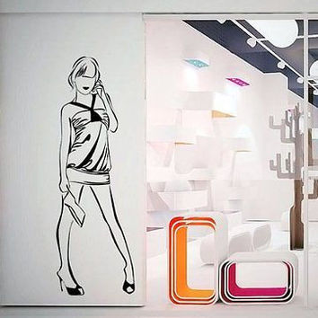Wall Mural Art Decor Vinyl Interior Decorative Fashion Pencil Sketch 07 V50