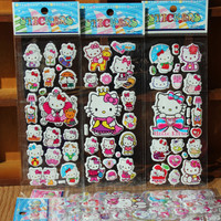 Kitty 3D Puffy Bubble Stickers Cartoon Foam Stickers Party Favors for Kids Cute DIY Craft Scrapbook Stickers