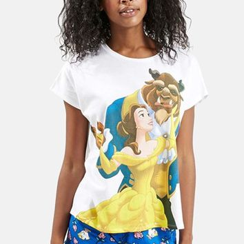 Women's Topshop Beauty & The Beast Pajama Set,