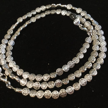 Round Silver Beads Eyeglass Chain