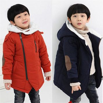 LONSANT Unisex Jackets Baby Coat Children jackets Boys Girls Hooded With Fur Outerwear Warm Winter Jacket Clothing Infantil