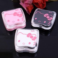 Hello Kitty Contact Lens Case For Women Cute Contact Lenses Box With Mirror  Eyeglass Case Eyewear Gift