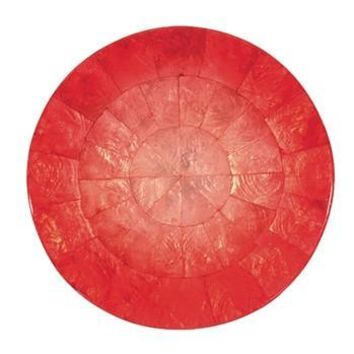 Round Ombre Capiz Placemats S/4 | Salmon