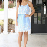 Picnic Perfect Dress - Blue