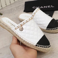 CHANEL  Spring holiday fisherman shoes slippers