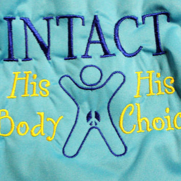 Intact, His Body, His Choice OS Diaper Cover or Pocket Diaper