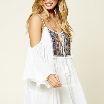 Boho Me Beaded Peasant Dress