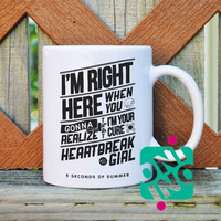 5 Seconds of Summer Heart Break Girl Coffee Mug, Ceramic Mug, Unique Coffee Mug Gift Coffee