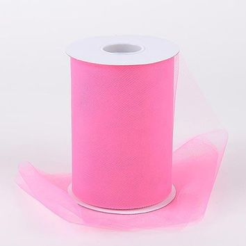 Shocking Pink Tulle Roll