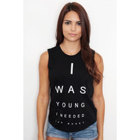 I Was Young Tank Top