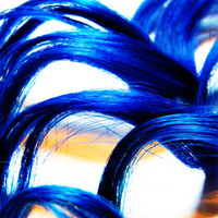 Royal Blue Clip In Human Hair Extensions Solid Color Extensions