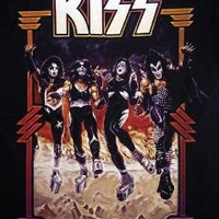 "NEW! KISS ""Destroyer"" Classic Rock Band Group Concert Tour Adult T-Shirt"