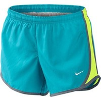 Girls Nike Tempo Running Shorts Blue/Volt/Slate at Sport Seasons