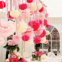 4pcs Mix 3 size Wedding Party Home Decoration Tissue Paper Poms Flower = 1946826820