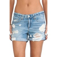 Women Rebel Vintage Wrangler's Distressed Cuffed Shorts Shredded High Rise