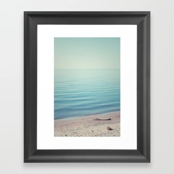 The Calm Framed Art Print by Faded  Photos